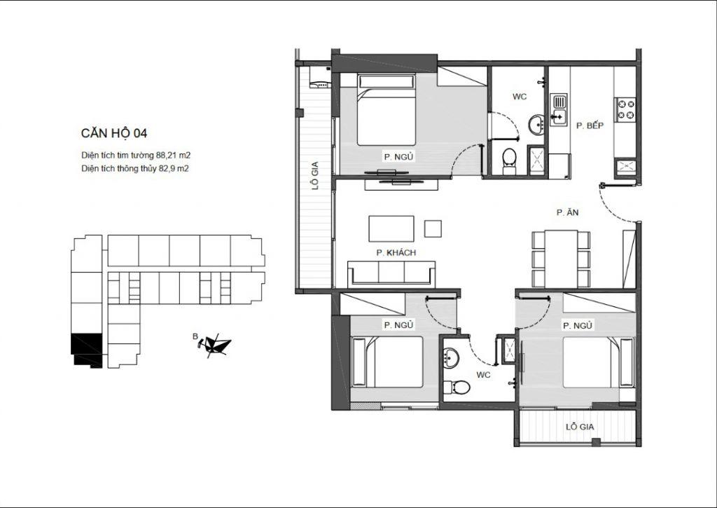 thiết kế căn hộ chung cư an bình plaza
