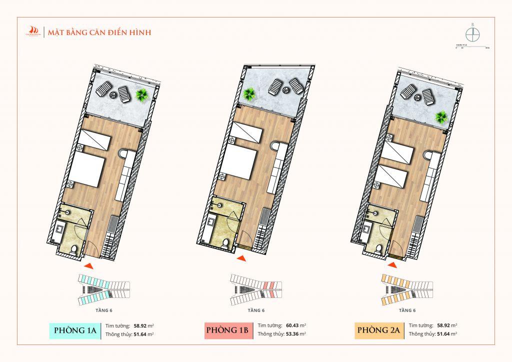 thiết kế aparthotel crystal holidays cam ranh riviera