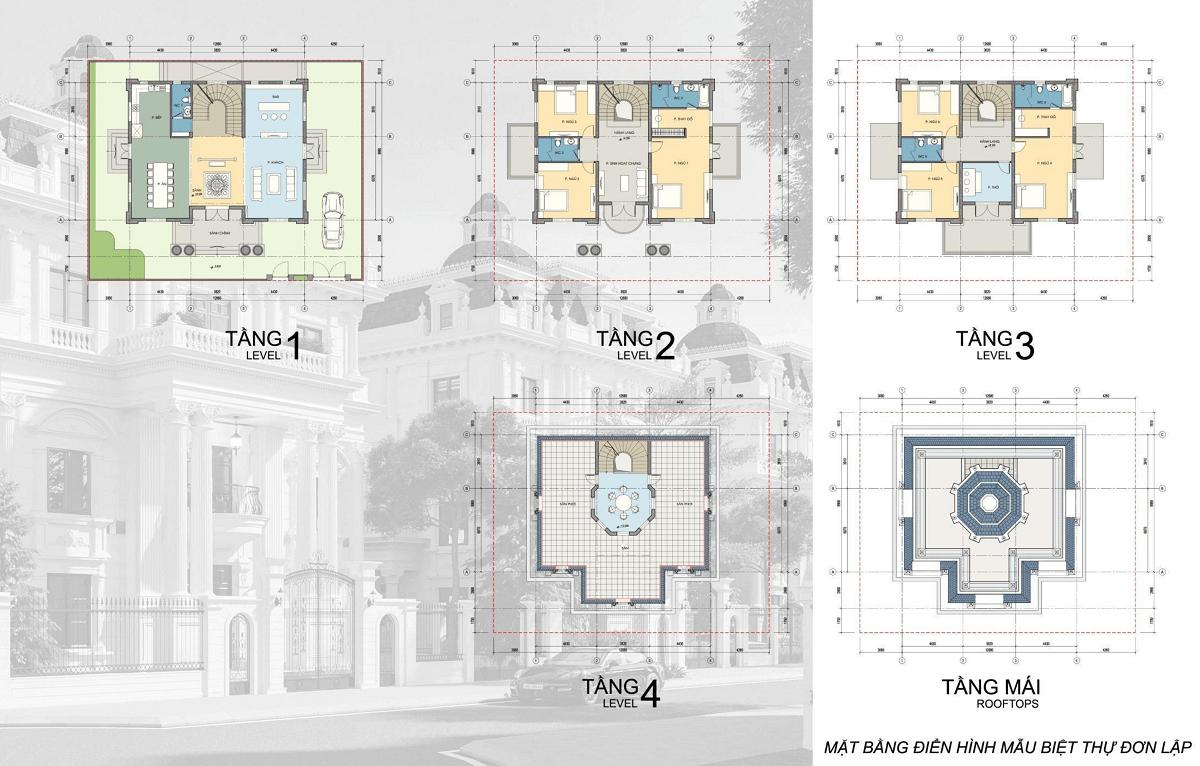 thiết kế biệt thự đơn lập danko city thái nguyên