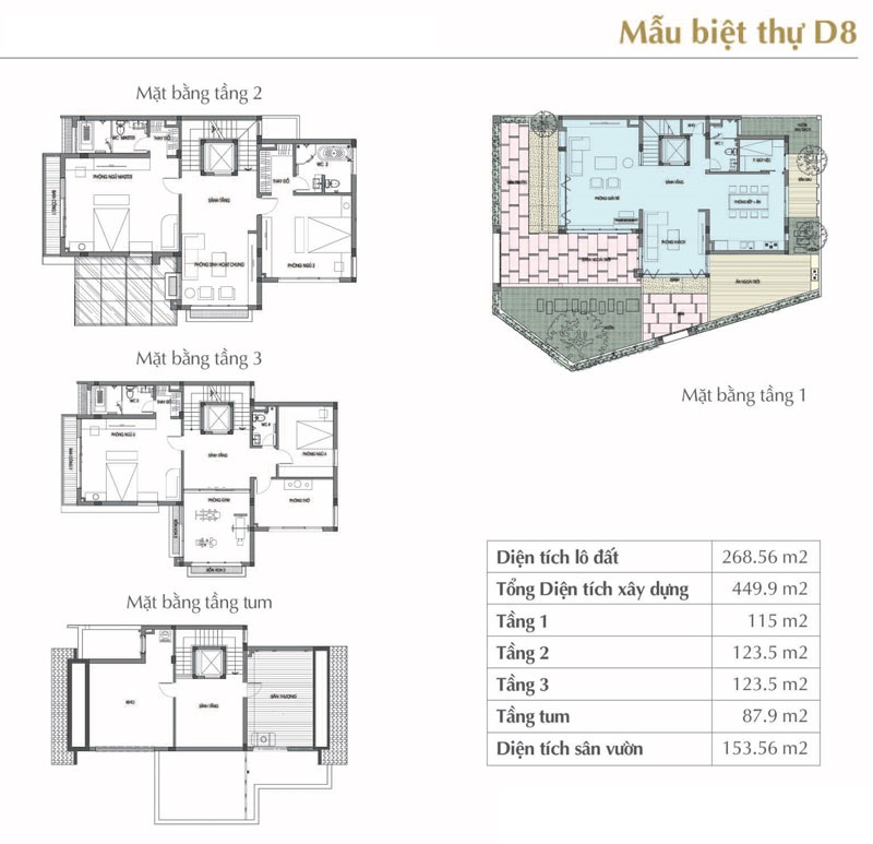 thiết kế biệt thự sol lake villa
