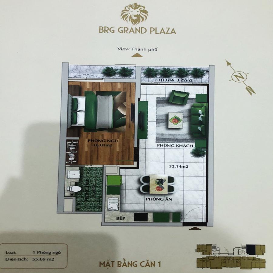 thiết kế chung cư brg grand plaza căn 01