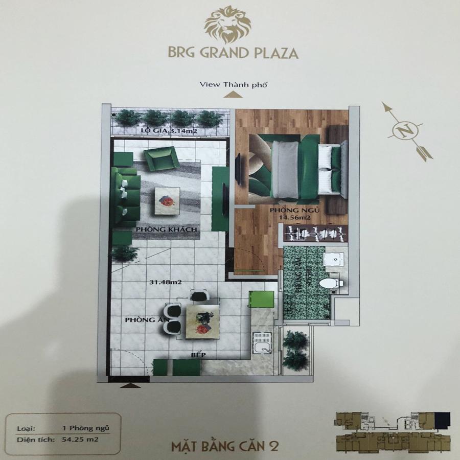 thiết kế chung cư brg grand plaza căn 02