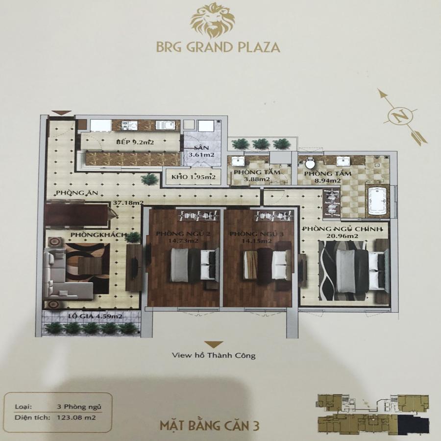 thiết kế chung cư brg grand plaza căn 03
