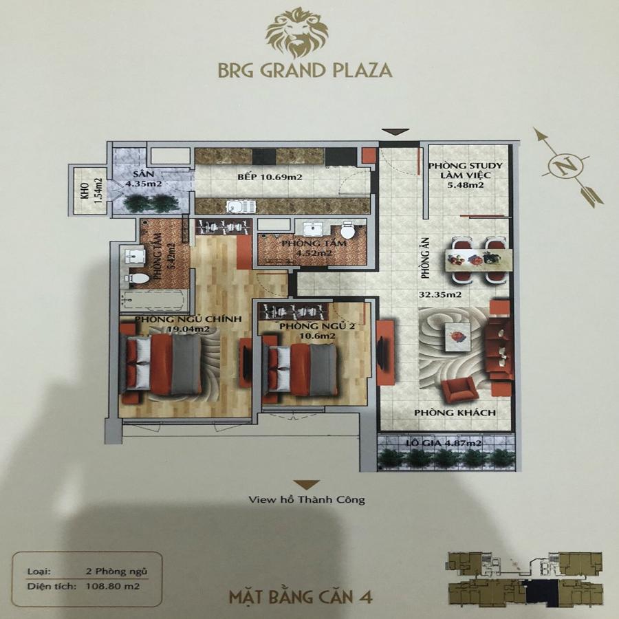 thiết kế chung cư brg grand plaza căn 04