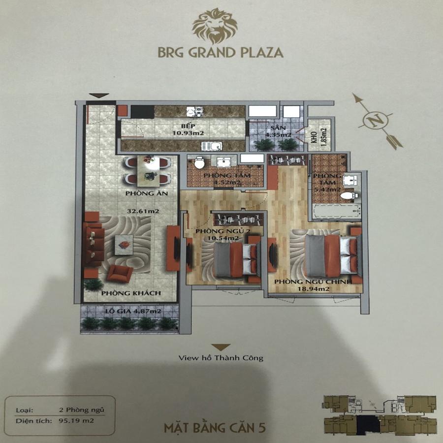 thiết kế chung cư brg grand plaza căn 05