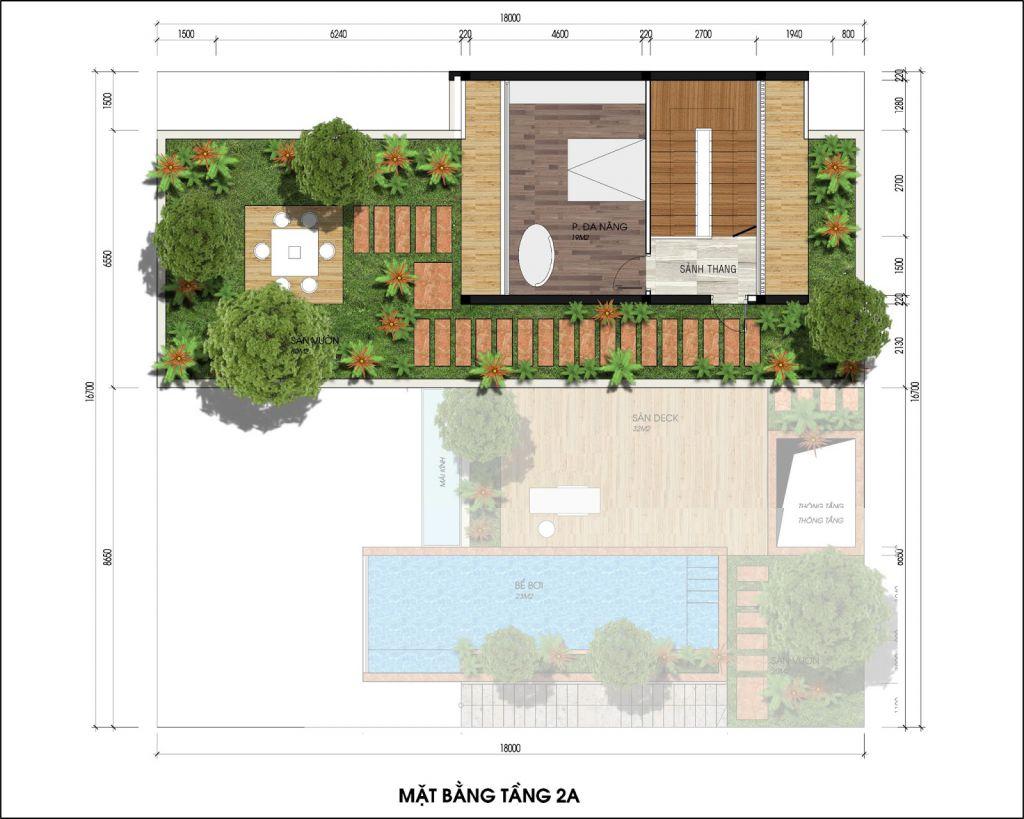 thiết kế biệt thự đơn lập the legend villas
