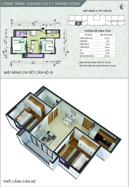 thiết kế chung cư c1 thành công căn số 2 và số 7