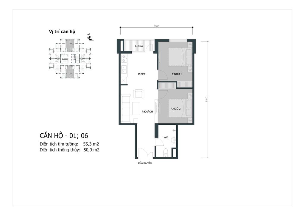 thiết kế căn 01,06 chung cư mipec city view