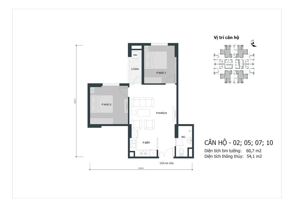 thiết kế căn 02,05,07,10 chung cư mipec city view