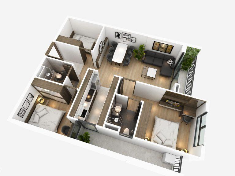 thiết kế căn hộ tsg lotus sài đồng long biên