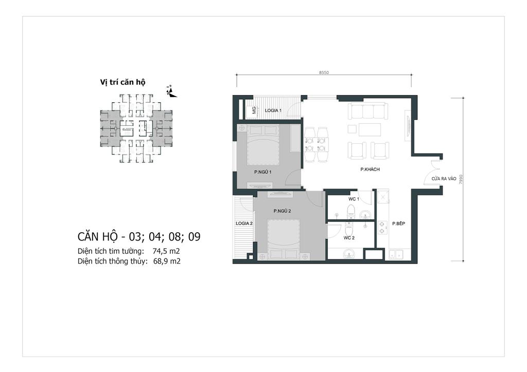 thiết kế căn 03,04,08,09 chung cư mipec city view