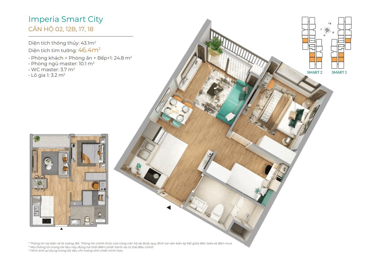 thiết kế chi tiết căn hộ imperia smart city