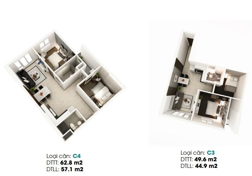 thiết kế căn hộ ldg river