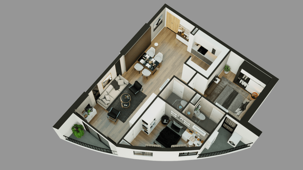 thiết kế căn hộ sky view plazza