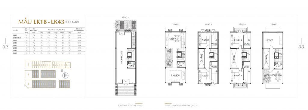 thiết kế liền kề liền kề sunshine mystery villas