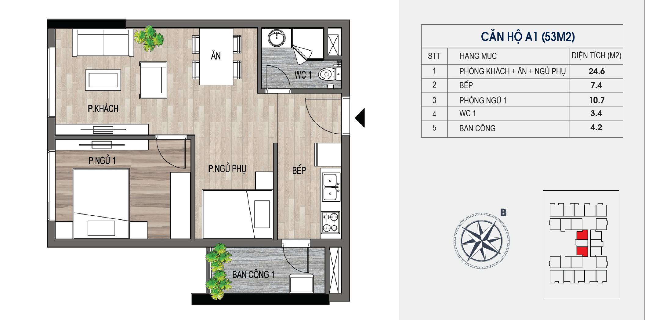 thiết kế chung cư lotus central căn hộ a1