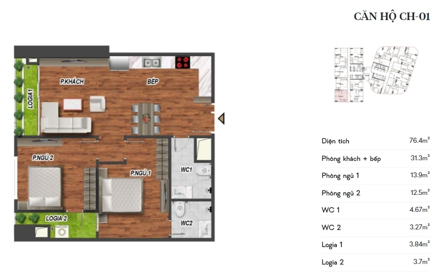 thiết kế manhattan tower căn hộ ch01