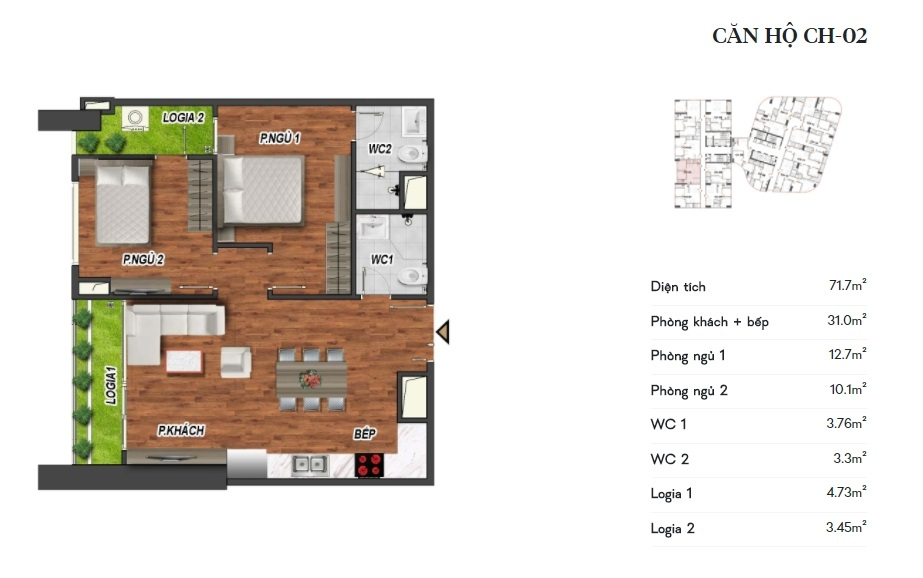 thiết kế manhattan tower căn hộ ch02