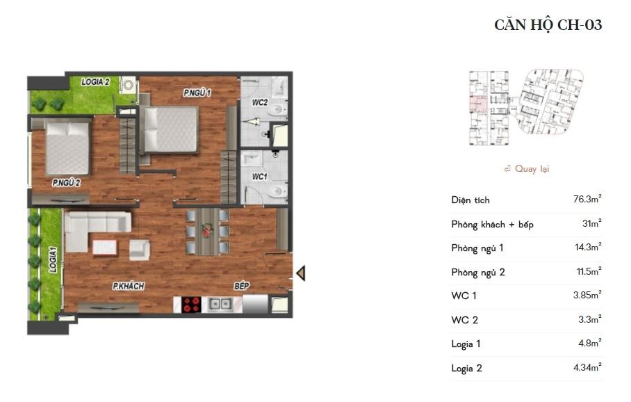 thiết kế manhattan tower căn hộ ch03