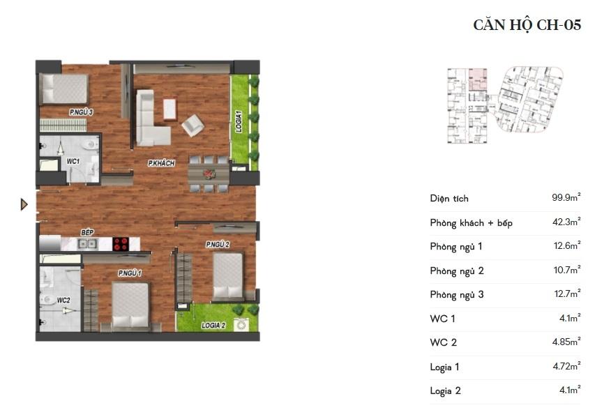 thiết kế manhattan tower căn hộ ch05
