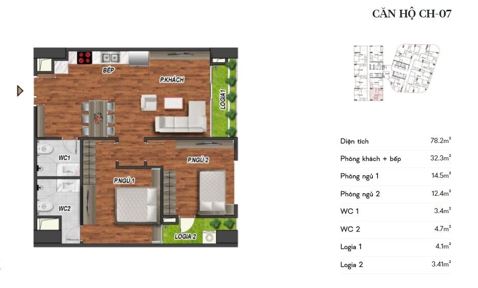 thiết kế manhattan tower căn hộ ch07