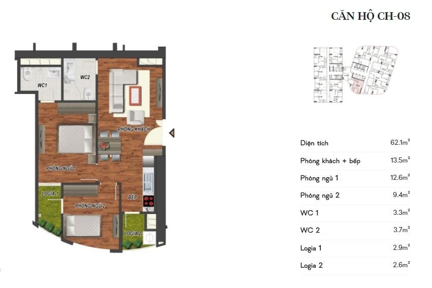 thiết kế manhattan tower căn hộ ch08