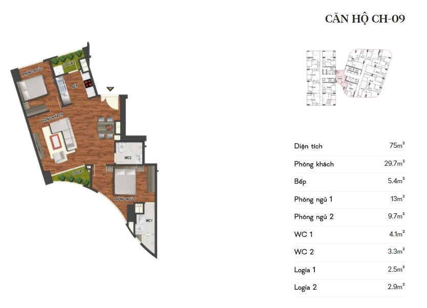 thiết kế manhattan tower căn hộ ch09