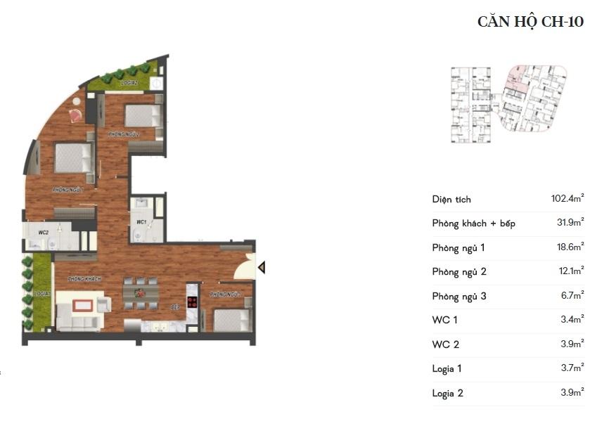 thiết kế manhattan tower căn hộ ch10