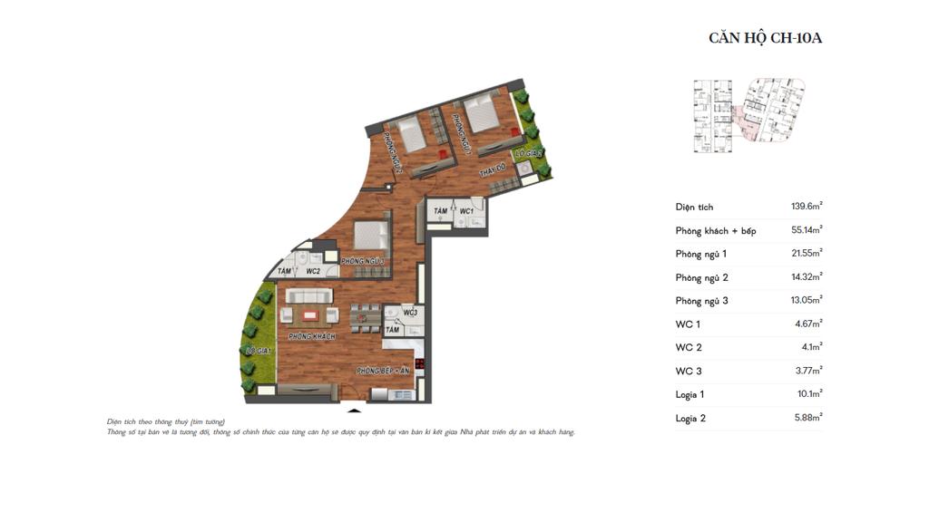 thiết kế manhattan tower căn hộ ch10a