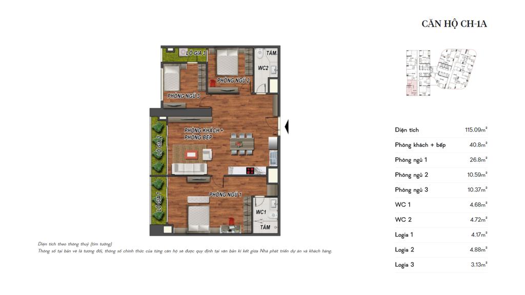 thiết kế manhattan tower căn hộ ch1a