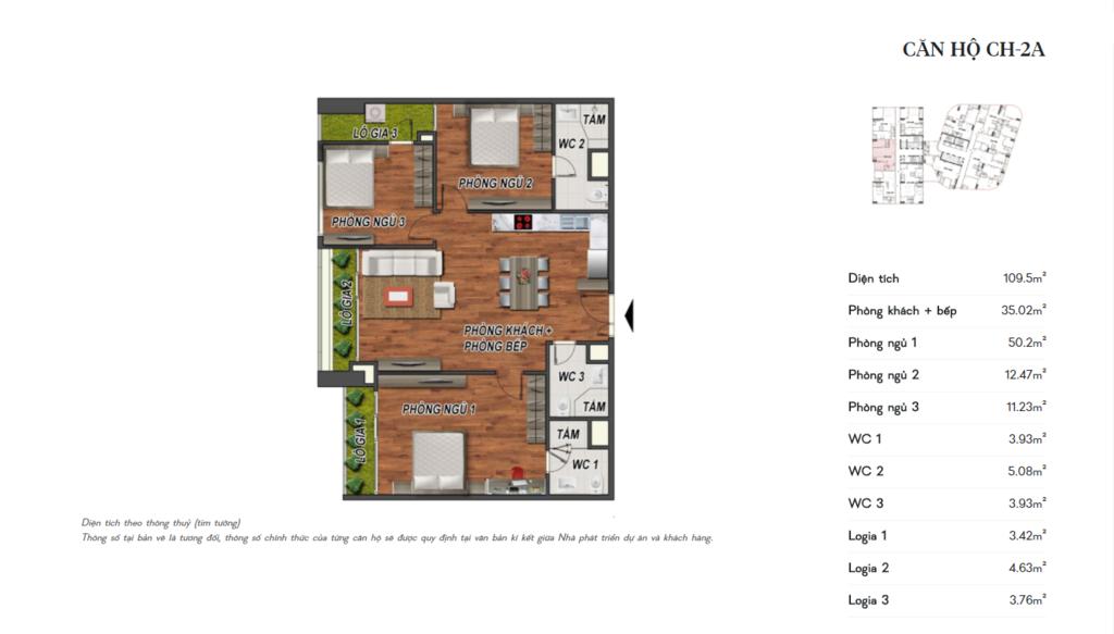 thiết kế manhattan tower căn hộ ch2a