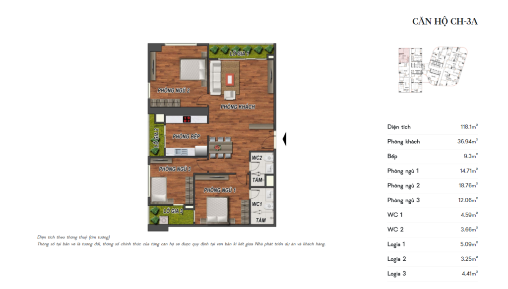 thiết kế manhattan tower căn hộ ch3a