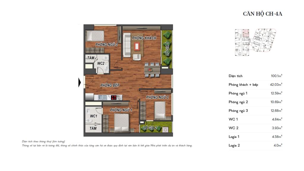 thiết kế manhattan tower căn hộ ch4a