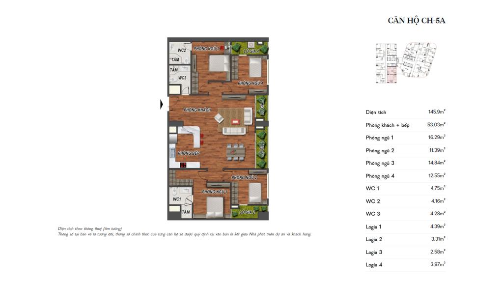 thiết kế manhattan tower căn hộ ch5a