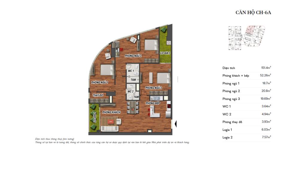 thiết kế manhattan tower căn hộ ch6a