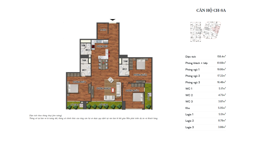 thiết kế manhattan tower căn hộ ch8a
