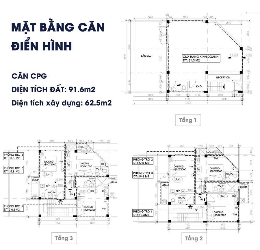 thiết kế chi tiết shophouse