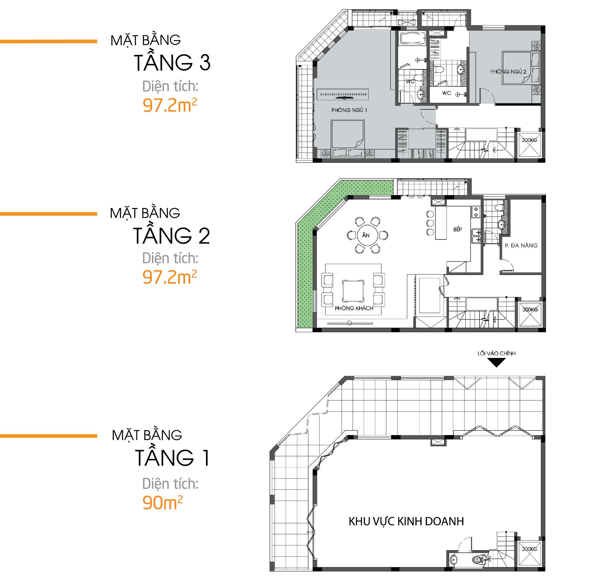 thiết kế shophouse bình minh garden