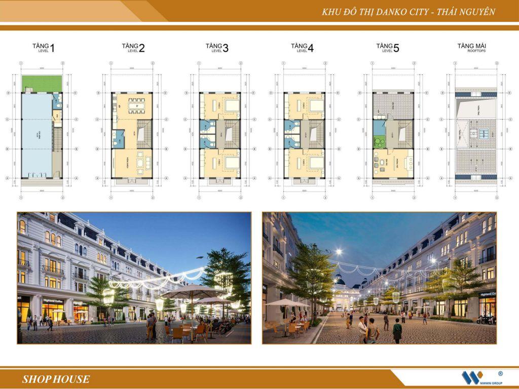 thiết kế shophouse danko city thái nguyên