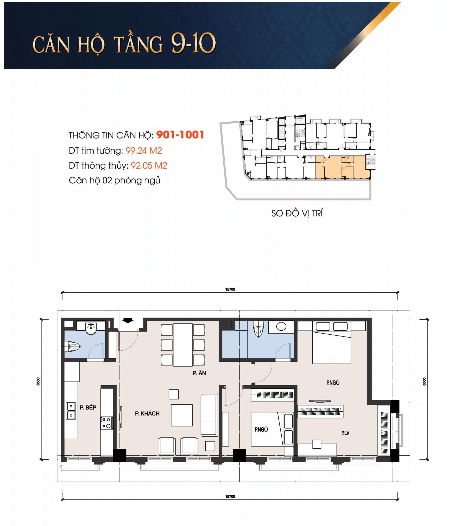 thiết kế t-place căn 901, 1001