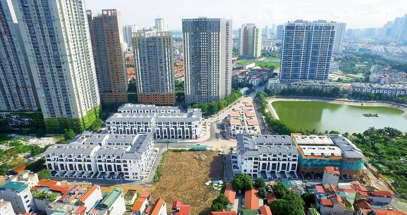 tiến độ thi công dự án hoàng thành villas