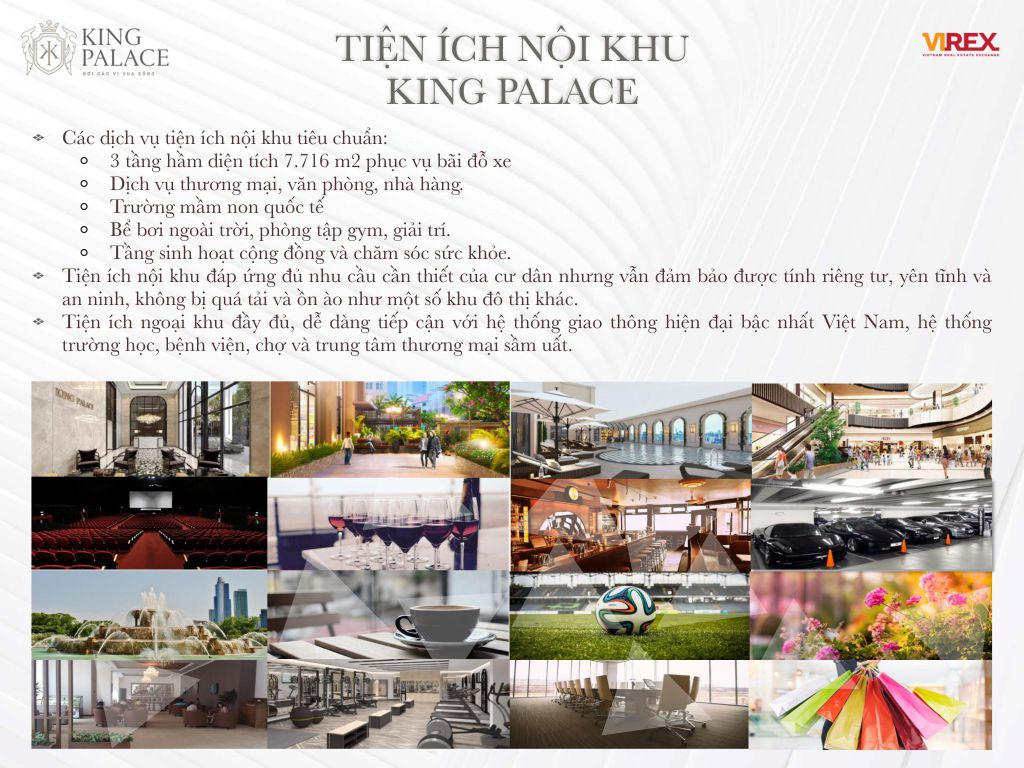 tiện ích dự án king palace nguyễn trãi