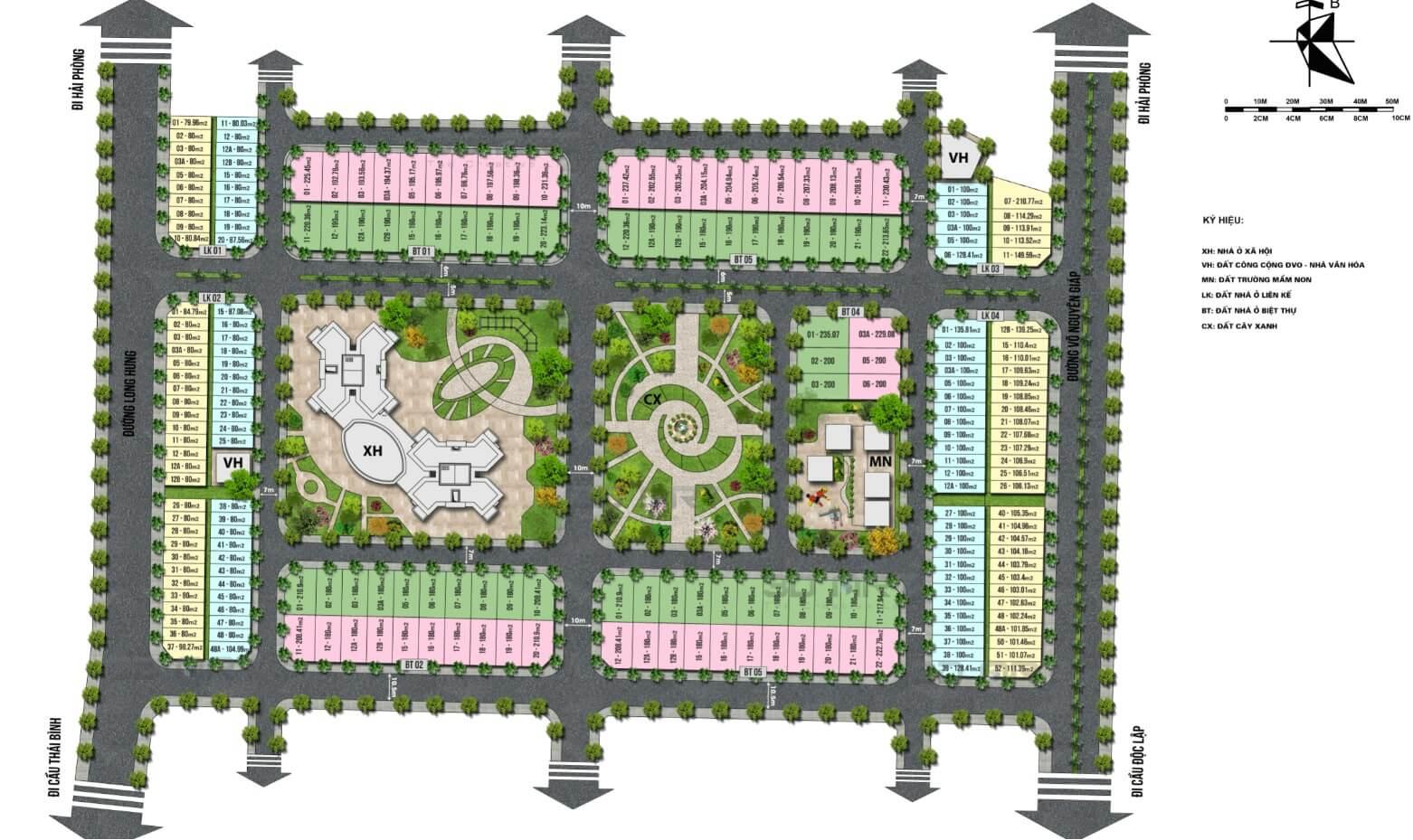 mặt bằng dự án tnr grand palace thái bình