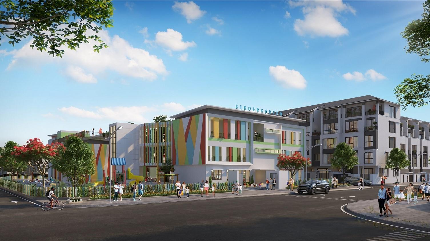 trường học tại dự án hoàng thành villas
