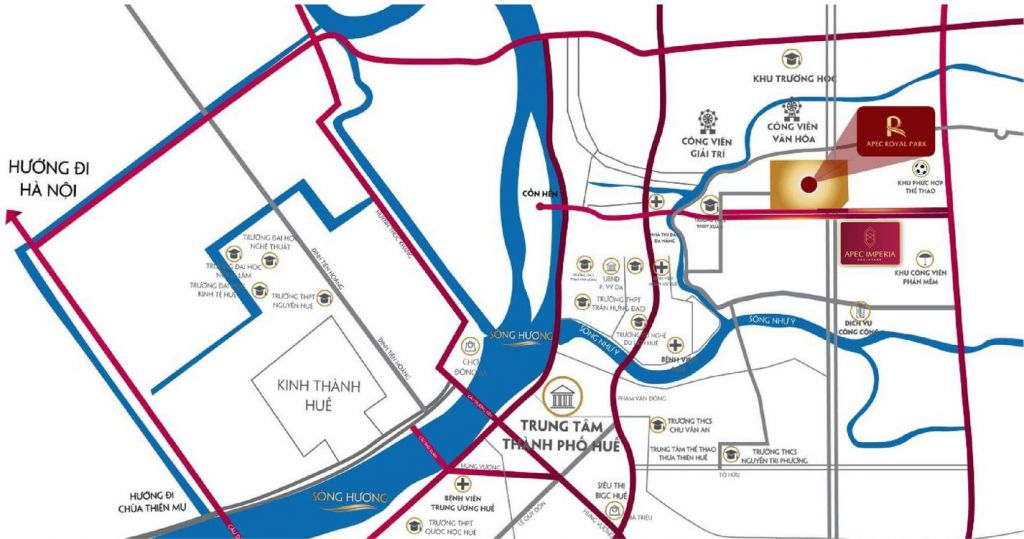 vị trí dự án apec imperia boulevard