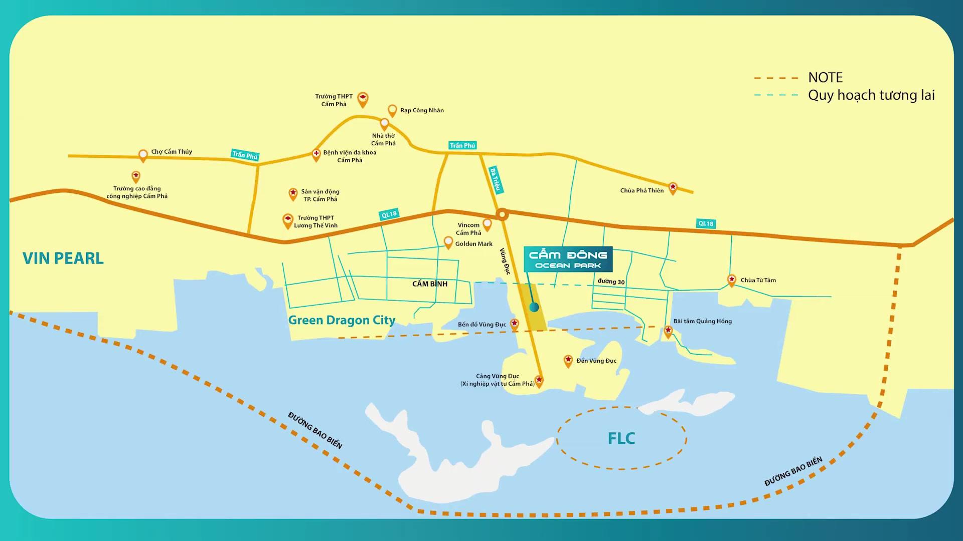 vị trí dự án cẩm đông ocean park