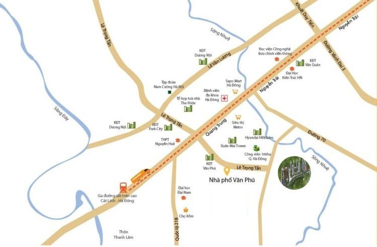 vị trí dự án chung cư mipec city view kiến hưng