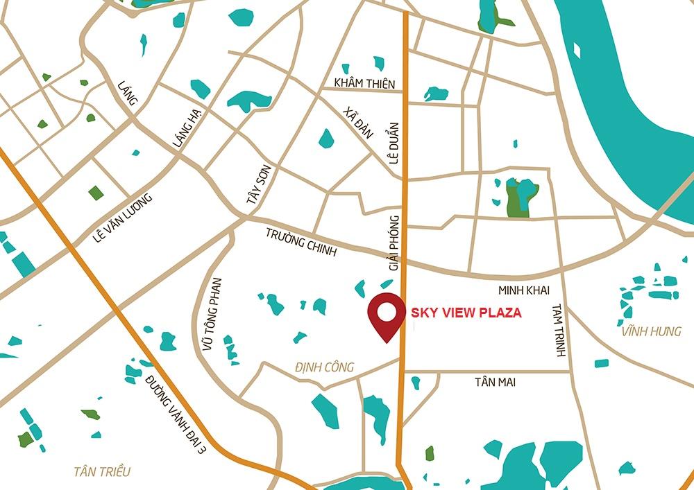 vị trí dự án sky view plaza