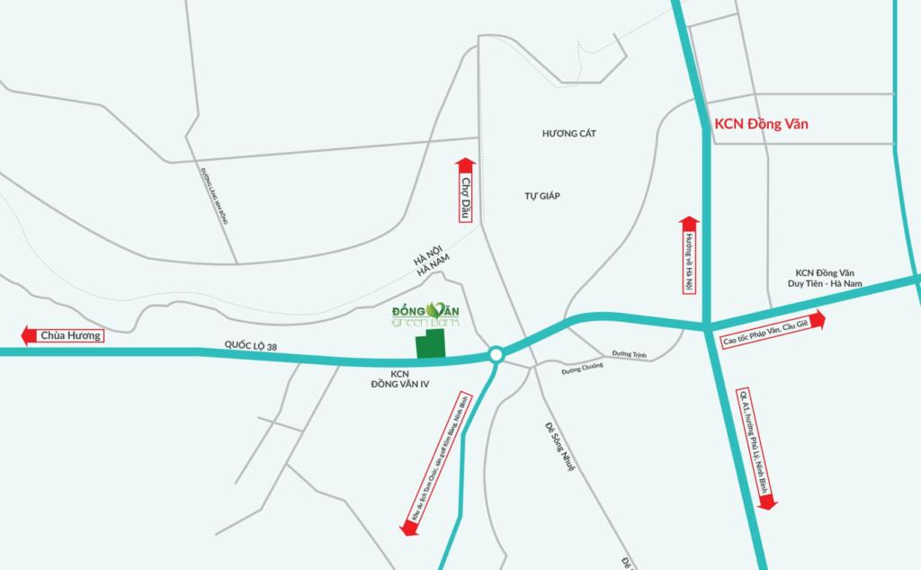 vị trí đồng văn green park