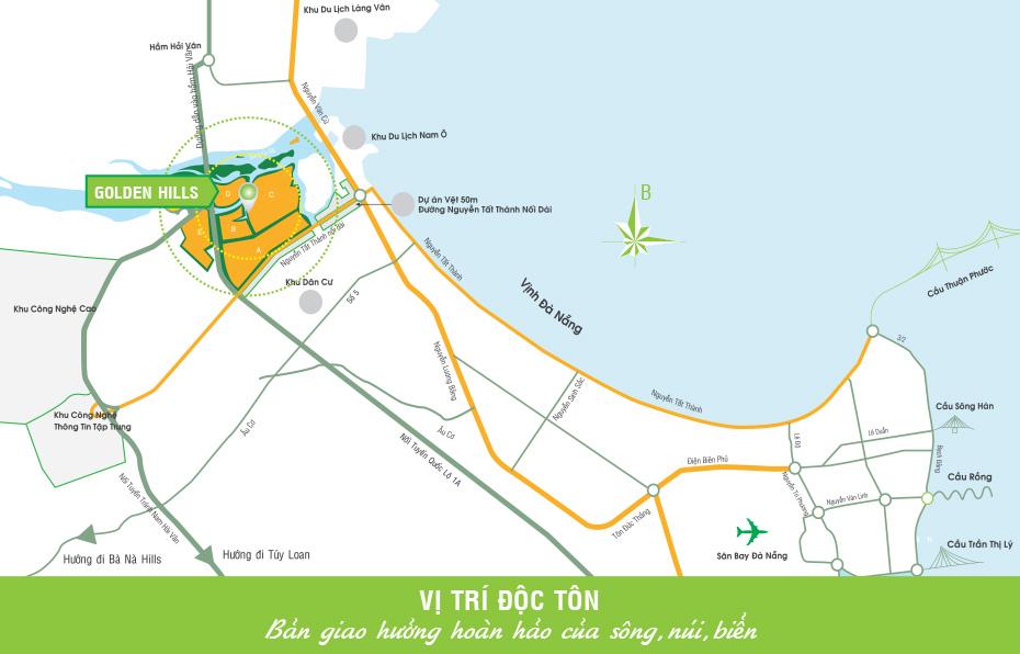 vị trí dự án golden hills đà nẵng